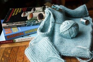 yarn along - baby sweater | by byhandathome