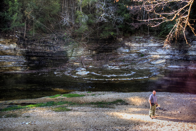 Ring Landform 2, Blackburn Fork Creek, Dr. Larry Knox, Jackson Co, TN