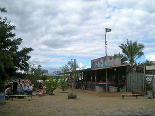 Burningmanesque bar on a beach. | by jetsetwhitetrash