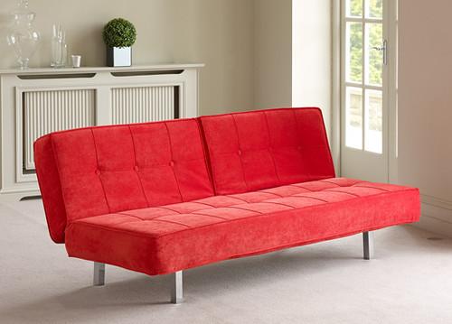 Novara Sofa Bed - Red | Superb design coupled with ...