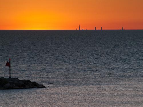 sunset lake chicago landscape illinois michigan lakemichigan newbuffalo timeofday
