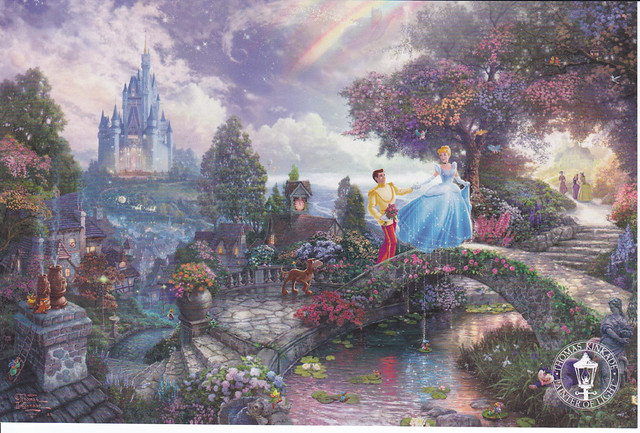 Thomas Kinkade Cinderella Wishes Postcard