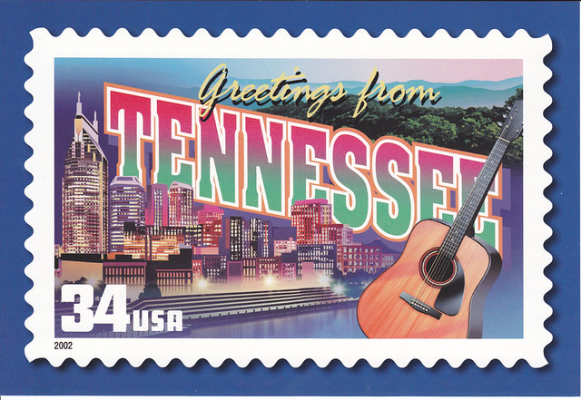 USPS Greetings From  Tennessee Postcard