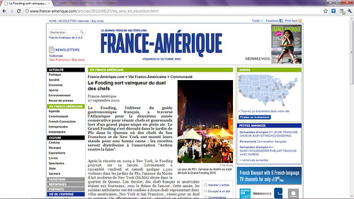 Tearsheet - A few of my photos on France-Amérique | by thewanderingeater