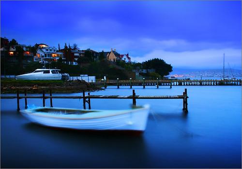 longexposure blur jetty tasmania longboat hobart batterypoint project365 pad2010