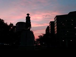 Sunrise at Washington Circle