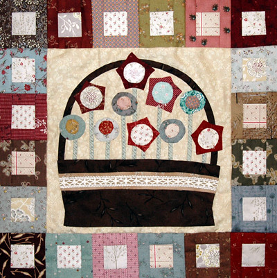 Pocket Of Posies Quilt Pattern.Pockets Of Posies Quilt Month 1 Pattern Anni Downs Hatch