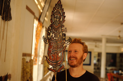 Tyler w/ Cambodian Shadow Puppet | by goingslowly