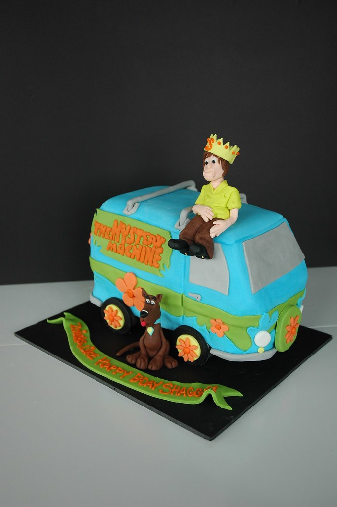 Outstanding Scooby Doo Birthday Cake Cake Made For A Shaggy Fan Of S Flickr Funny Birthday Cards Online Alyptdamsfinfo