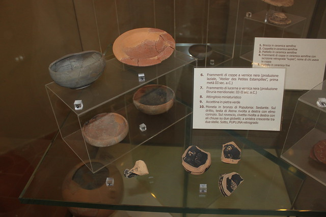 Roman pottery from archaeological excavations on Isola d'Elba