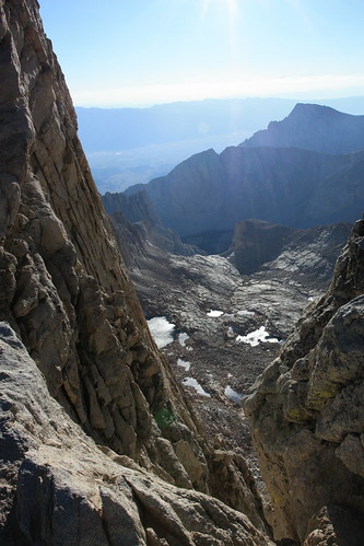 North Fork Lone Pine Creek Valley from Mount Whitney Summit Trail   by Alan Cordova