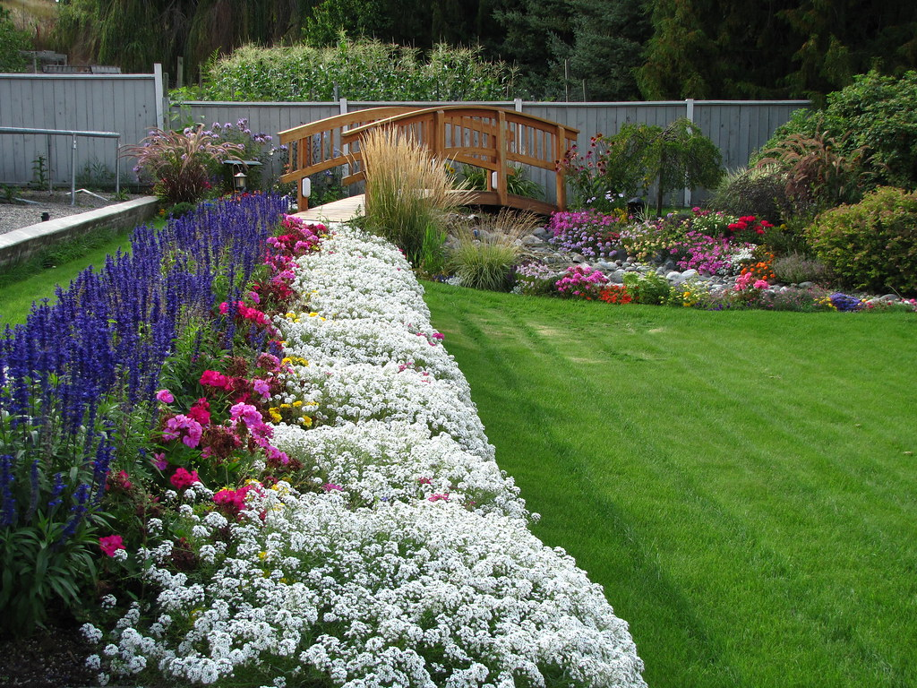 backyard flower beds