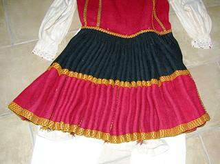 Woman's Ensemble, Wool Dress from back, Zadrima, Albania