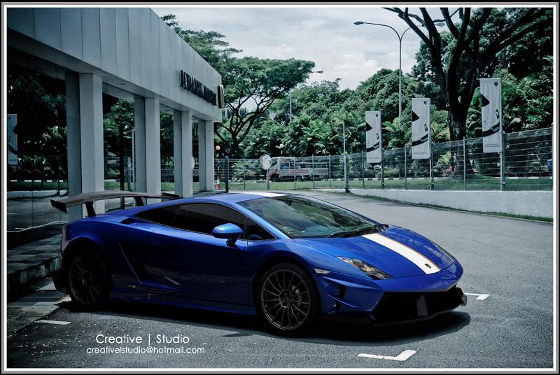 Singapore Lamborghini Lp550 2 Valentino Balboni Blue Cael Flickr