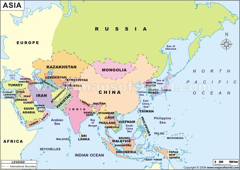 Asia Map | www.mapsofworld.com/asia-political-map.htm | MapsOfWorld Mapsofworld on