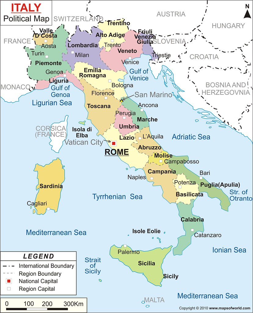 Map of Italy | www.mapsofworld.com/italy/italy-political-map ... Mapsofworld on