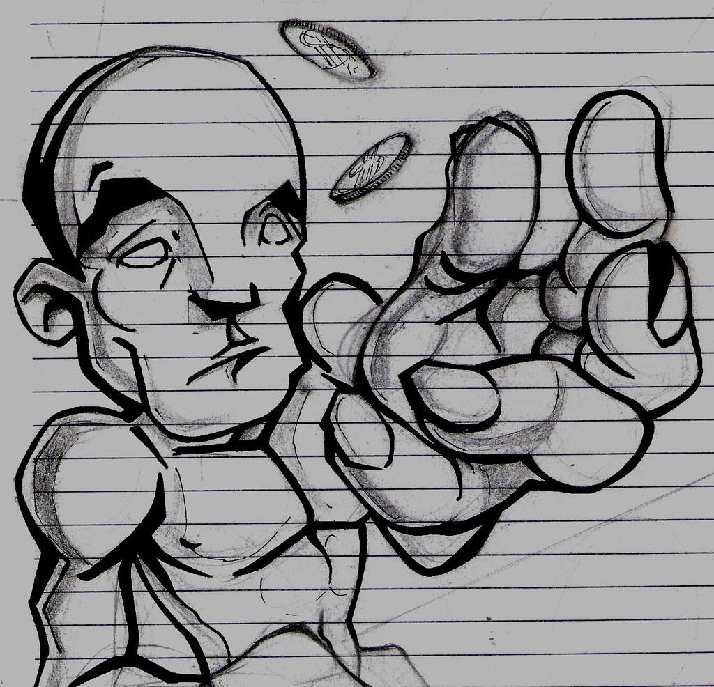 Desenho Na Ultima Folha Do Caderno Rs Felipe Luiz Flickr