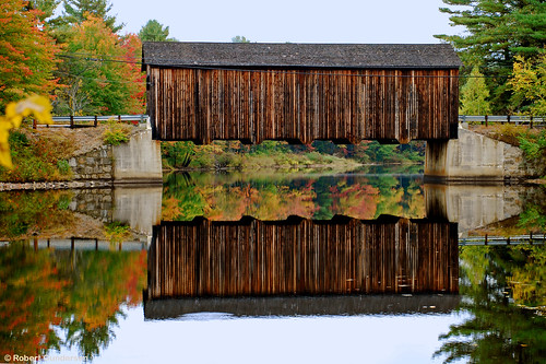 building coveredbridge d40x gundersen newhampshire nh nikon places scenes shots water foliage old whitemountains image picture interesting green yellow red brown bridge catchycolors country gold infrastructure livefreeordie orange river road tree bobgundersen newengland engineering landscape robertgundersen usa photo nikond40x reflection fall autumn nikoncamera flickr street exterior outside outdoor leaf ©bobgundersen
