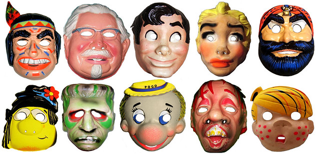 Newspaper Cartoon Masks 0131