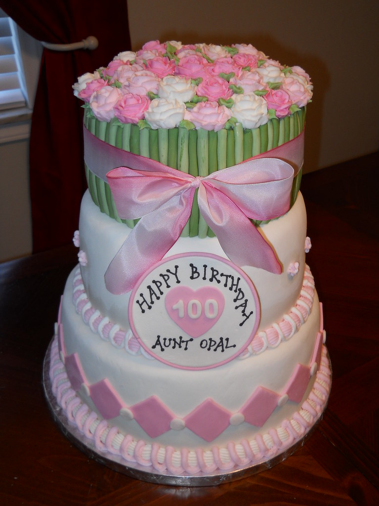 Peachy 100Th Birthday Cake Jennifer Flickr Funny Birthday Cards Online Aboleapandamsfinfo