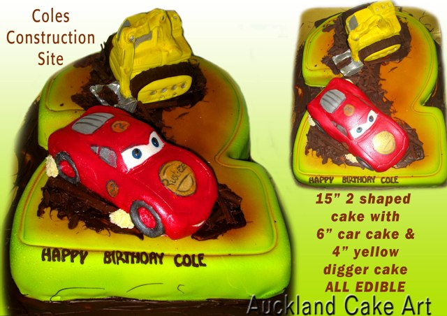 Astonishing Coles Construction Birthday Cake Coles Construction Birthd Flickr Birthday Cards Printable Inklcafe Filternl
