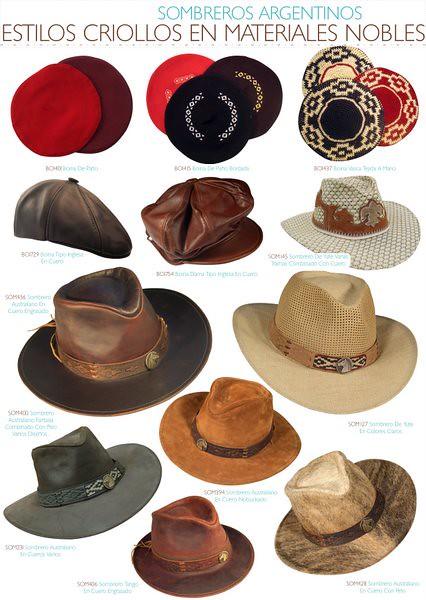 mejor selección captura Venta de liquidación 2019 Sombreros Argentinos | Estilos Criollos en Materiales Nobles ...