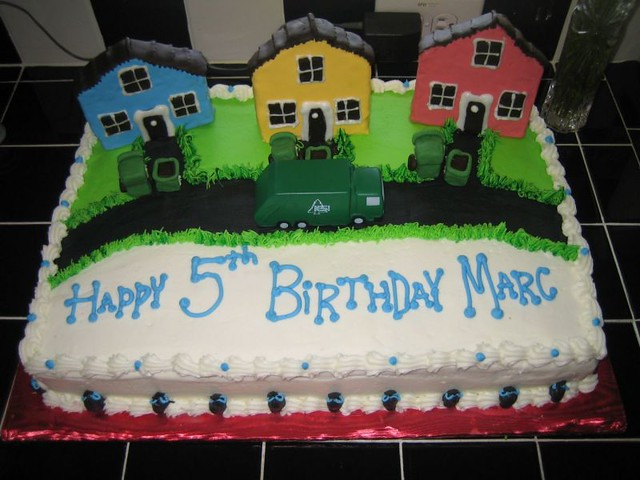 Stupendous Garbage Truck Cake Joe Autocar Flickr Personalised Birthday Cards Veneteletsinfo