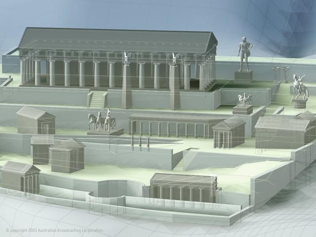 Reconstrucción del santuario de Delfos