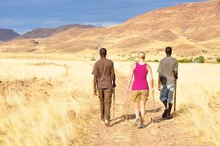 Walking in Damaraland