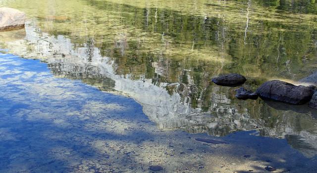 So-so reflection on Tenaya Lake
