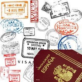 Sellos y pasaporte