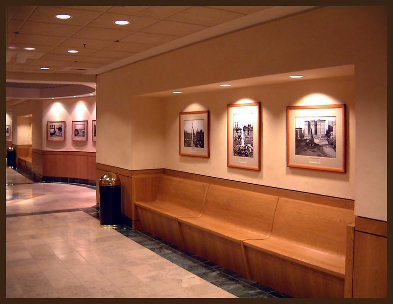 Court seating area exhibit