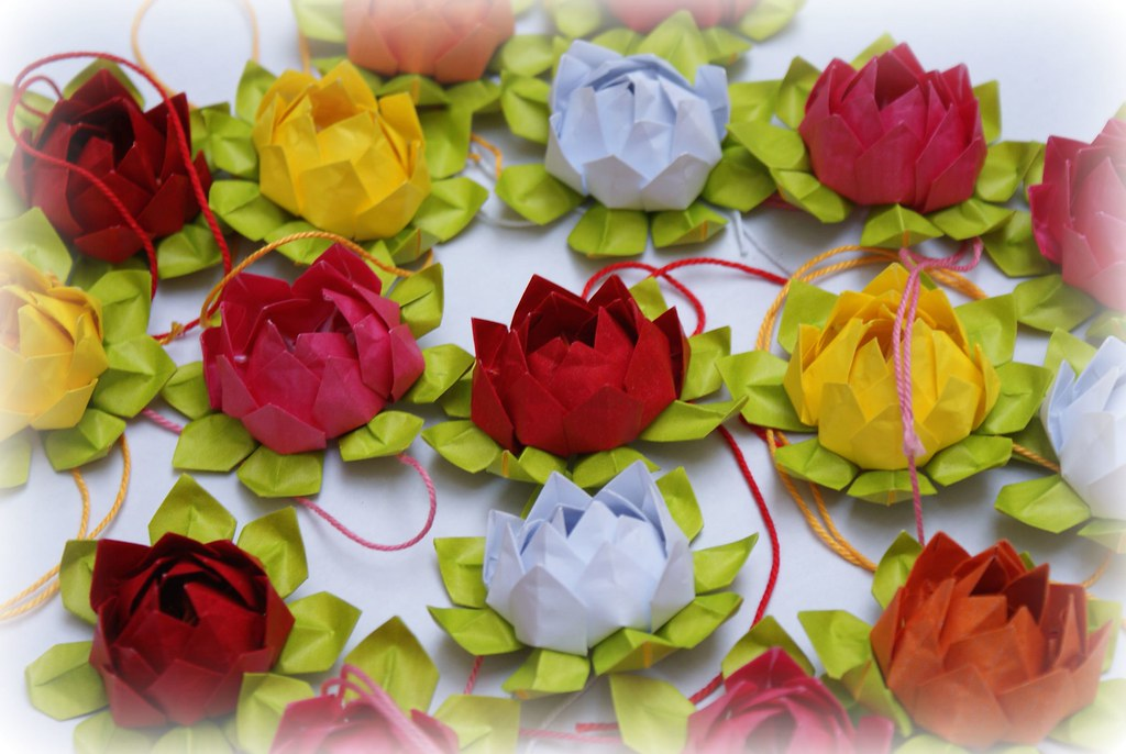 Origami Fiori Di Loto Mille Gru Di Carta Flickr