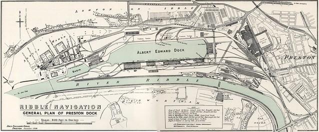 Preston Dock Plan 1936