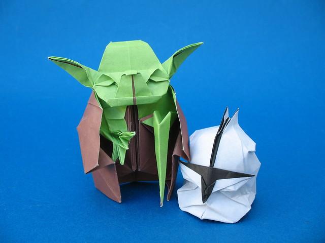 Star Wars-Yoda and clone trooper helmet