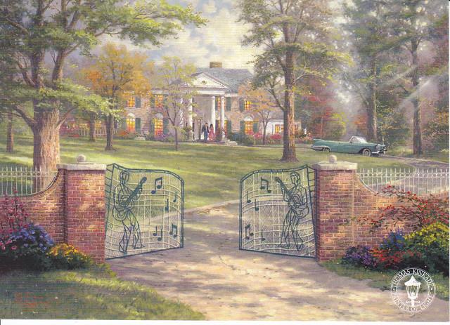 Thomas Kinkade Graceland Postcard