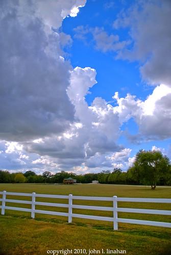 blue sky cloud clouds photoshop landscape nikon louisiana gray scenic cumulus whitepicketfence hdr d60 photomatix 4269 duson