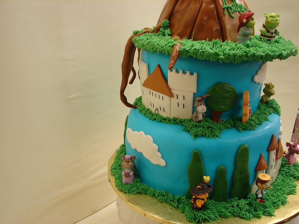 Astonishing Shrek And Friends Birthday Cake Shrek And Friends Birthday Flickr Funny Birthday Cards Online Benoljebrpdamsfinfo