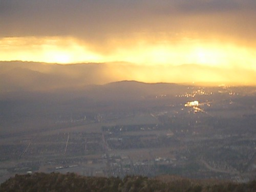 rain weather clouds sunrise video showers palmspringsaerialtramway tripuptothemountainstation
