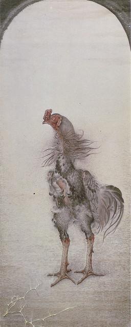 稲垣仲静「軍鶏」(1919)