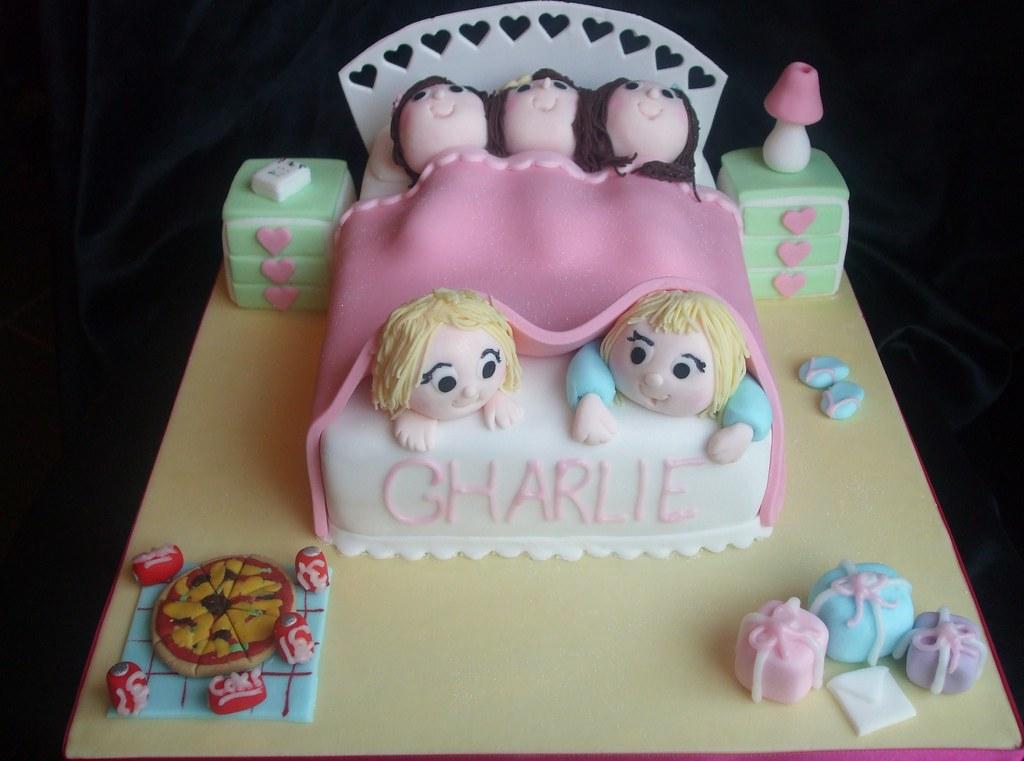 Sensational Girls Sleepover Birthday Cake This Design Was Given To Me Flickr Funny Birthday Cards Online Inifodamsfinfo