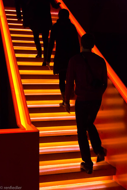 Stairs on fire