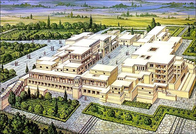 Palacio de Cnossos reconstrucción