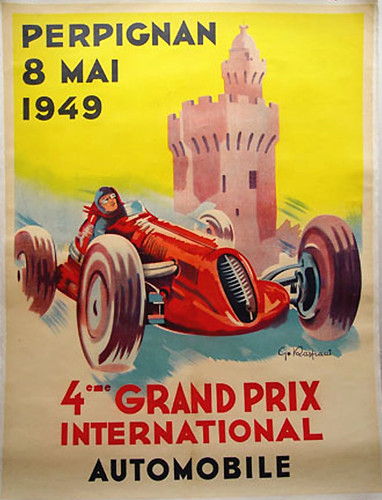014-Perpignan Grand Prix, 1949-© 2010 Vintage Auto Posters. All Rights Reserved | by ayacata7