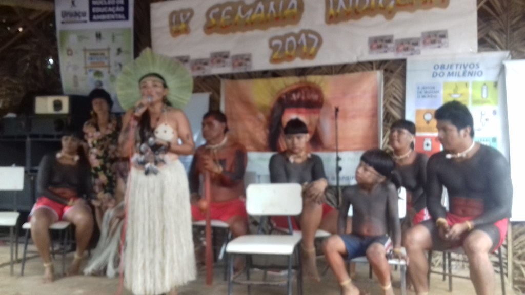 Barca das Letras na Semana Indígena Serra da Mesa(GO)