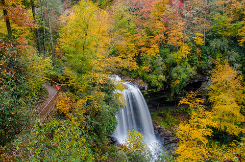 northcarolina nc western falls fall waterfall water autumn colors color