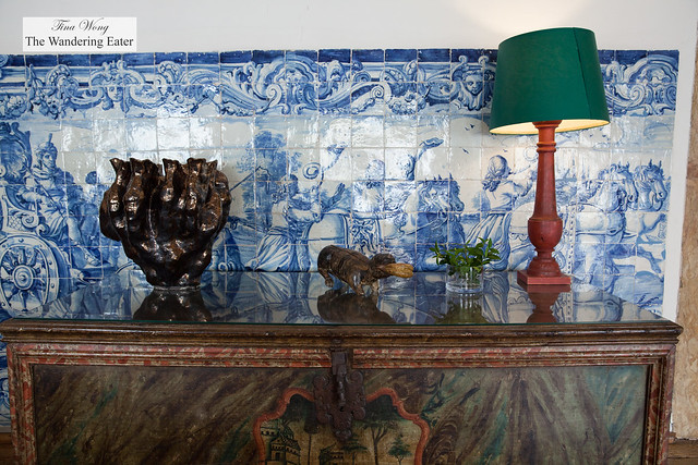 Mix of historical and modern artifacts at the Maria Ursula Ballroom
