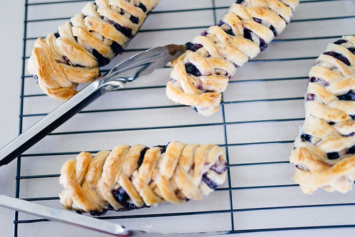 Homemade eggless blueberry crossovers using puff pastry | by Get Kamfortable