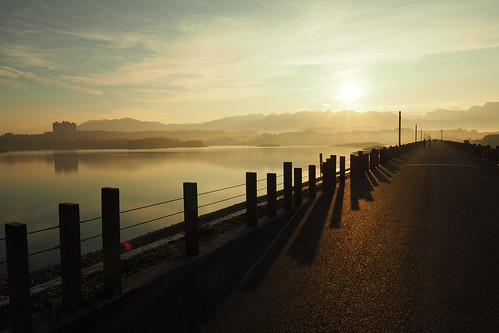 reny lake 仁義潭 嘉義 chiayi olympus penf 台灣 taiwan sunrise dusk 日出 拂曉 panasonic leica dg 12mm f14