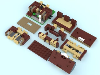 Grand Hotel - Mini Modular - Building techniques | by BrickJonas